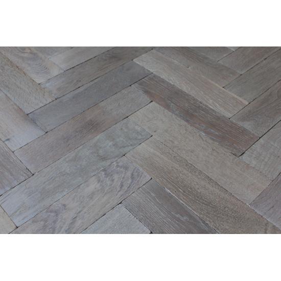 Parquet Flooring Bristol: P121/16 Dark Moon Tumbled Parquet Flooring