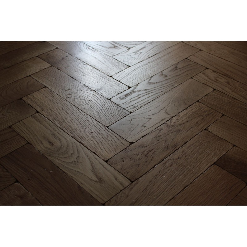 Tumbled Rustic Oak Parquet Flooring Blocks Satin Oil