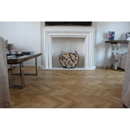 Tumbled Prime Oak Parquet Flooring Mat Oil Finish, size 16x70x280mm