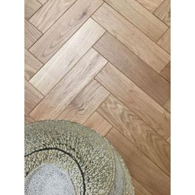 Engineered Oak Parquet Flooring Mat Oil Finish, size 15x70x280mm 4mm top layer