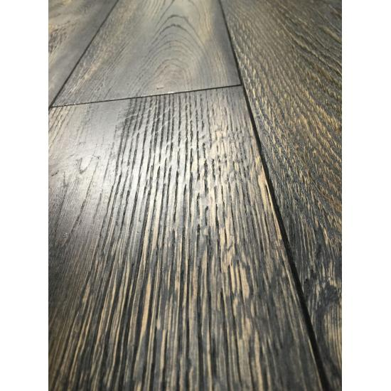 Hinton Black Datura Solid Oak Flooring 21x160x610-2610mm