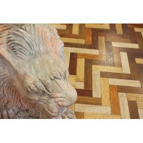 Tumbled Mix Oak Parquet Flooring Blocks Mat Oil Finish, size 16x70x280mm