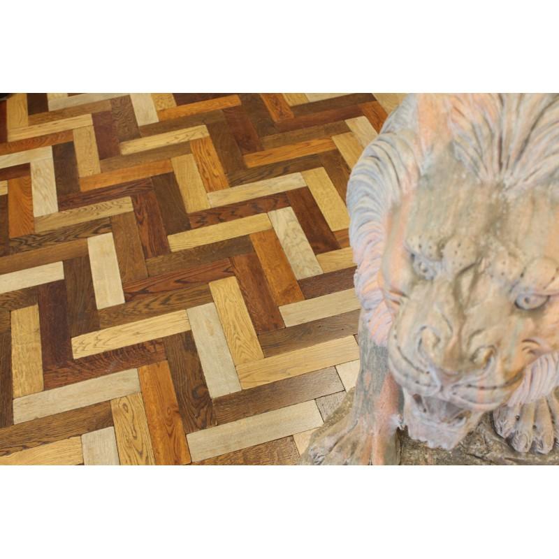 Parquet Flooring Bristol: Tumbled Mix Oak Parquet Flooring Blocks Mat Oil Finish