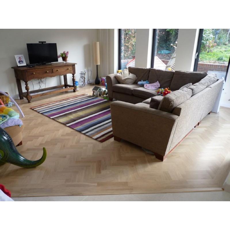 Parquet Flooring Bristol: P101/16 Prime Oak Parquet Blocks Unfinished 16x70x280
