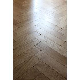 P117/16 Tumbled Rustic Oak Parquet Flooring Blocks Mat Oil Finish, size 16x70x280mm