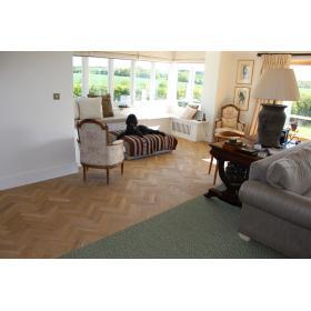 P116/22 Tumbled Rustic Oak Parquet Flooring Blocks Natro Finish, size 22x70x280mm