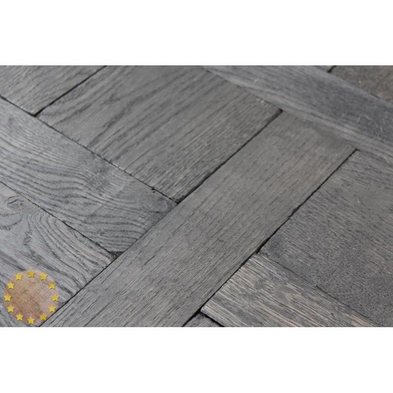 Parquet Flooring Bristol: V005 Continuous Versailles Tumbled Black