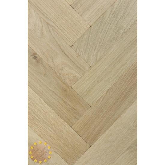 Tumbled Rustic Oak Parquet Flooring Blocks Unfinishead 16x70x280mm