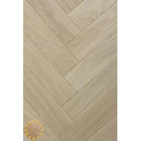 P105/16 Rustic Brushed+Microbevel Oak Parquet Flooring Blocks Unfinishead 16x70x280mm