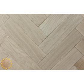 P105/22 Rustic Brushed+Microbevel Oak Parquet Flooring Blocks Unfinishead 22x70x280mm