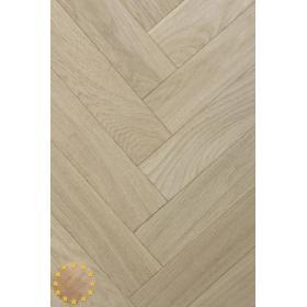 P107/22 Prime Brushed+Microbevel Oak Parquet Flooring Blocks Unfinishead 22x70x280mm