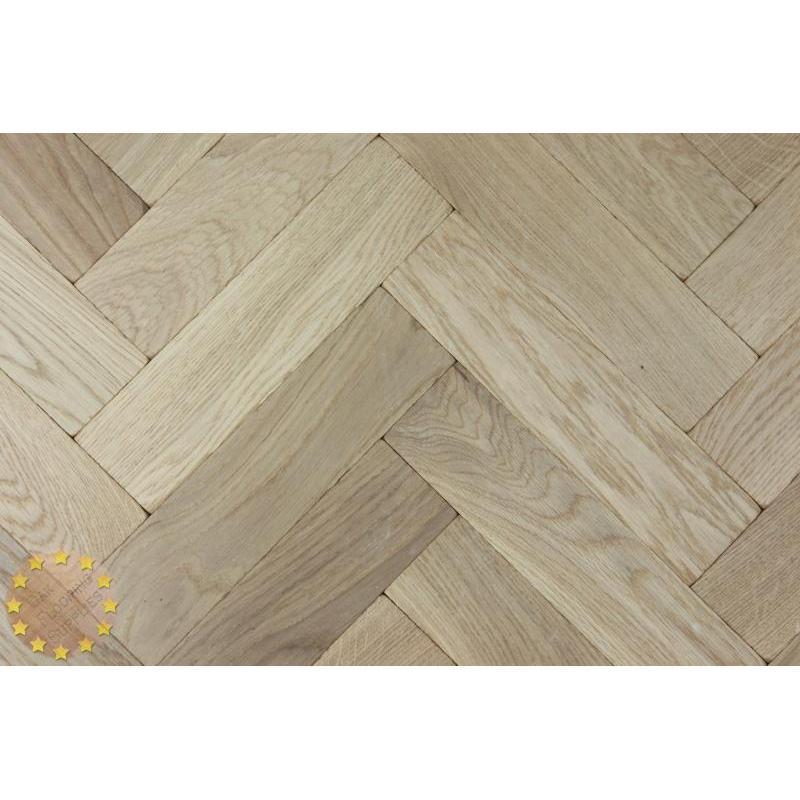 P116 16 Tumbled Rustic Oak Parquet Flooring Blocks Natro
