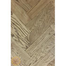 P119/16 Walnut Tumbled Parquet Flooring, size 16x70x280mm