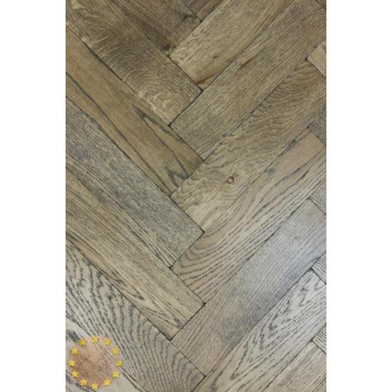 Parquet Flooring Bristol: P120/16 Tumbled Parquet Flooring, Black Oil Size