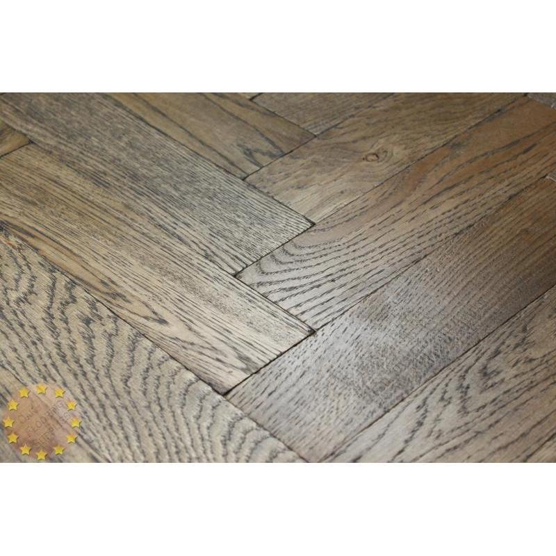 Parquet Flooring Bristol: P120/22 Tumbled Parquet Flooring, Black Oil Size