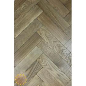 P122/16 Tumbled Parquet Flooring, Weathered Oak size 16x70x280mm