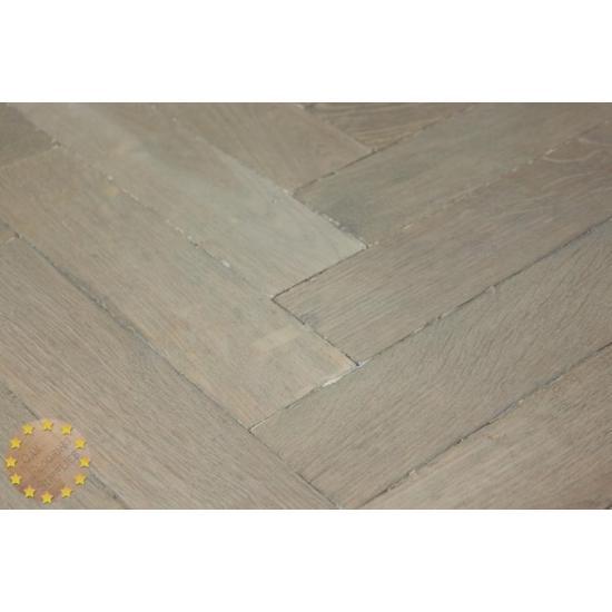 Parquet Flooring Bristol: P133/22 Weathered Light Solid Parquet Flooring, Size