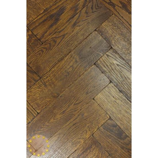 P13416 Double Dark Oak Solid Parquet Flooring Size 16x70x280mm
