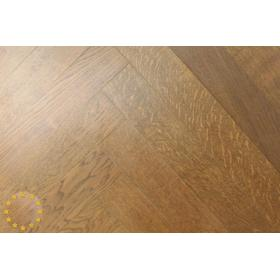 CH002 Rustic Engineered Oak Chevron, Antique Mahogany size:15x100x800mm