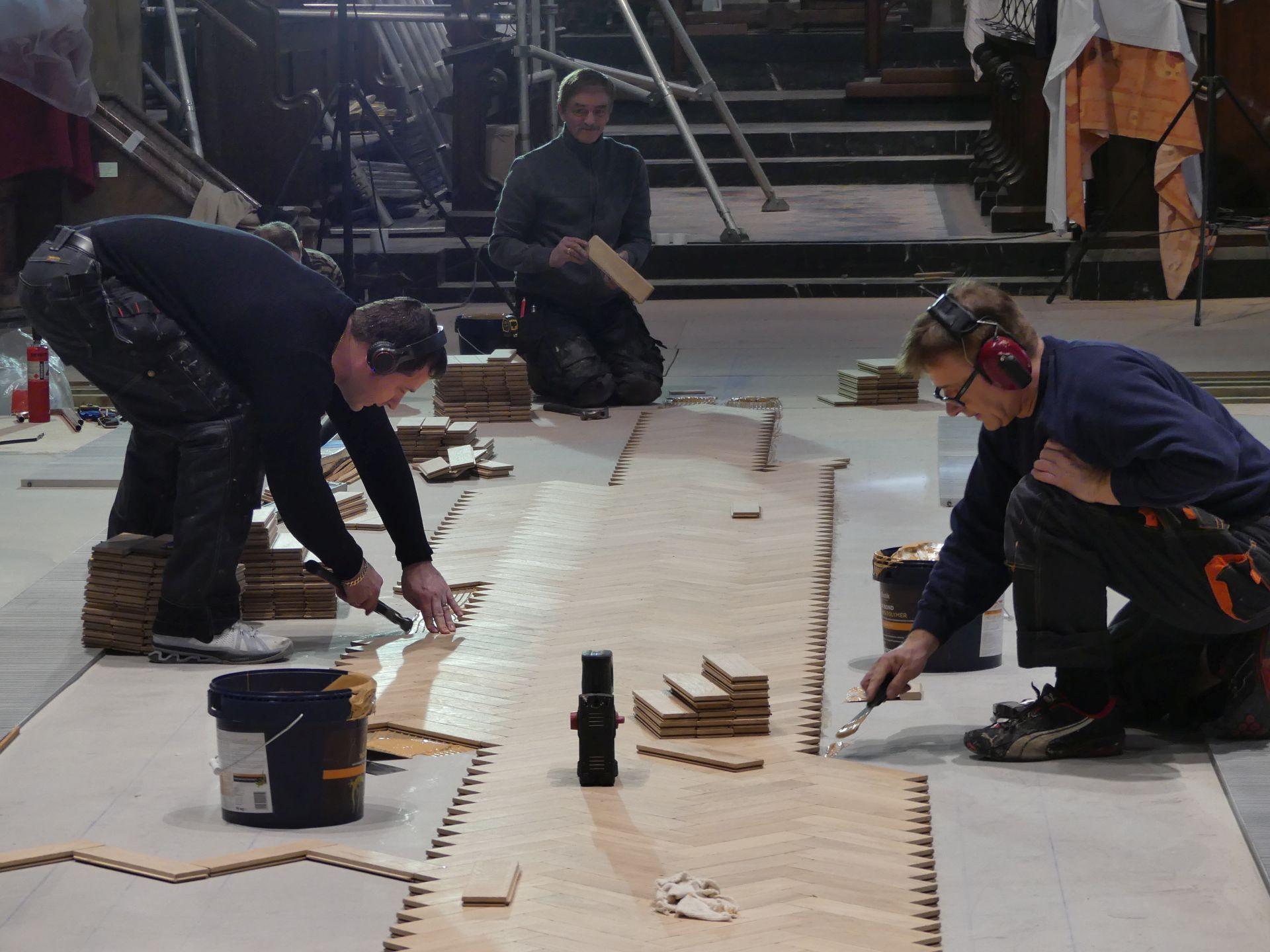 Christ church floor renovation