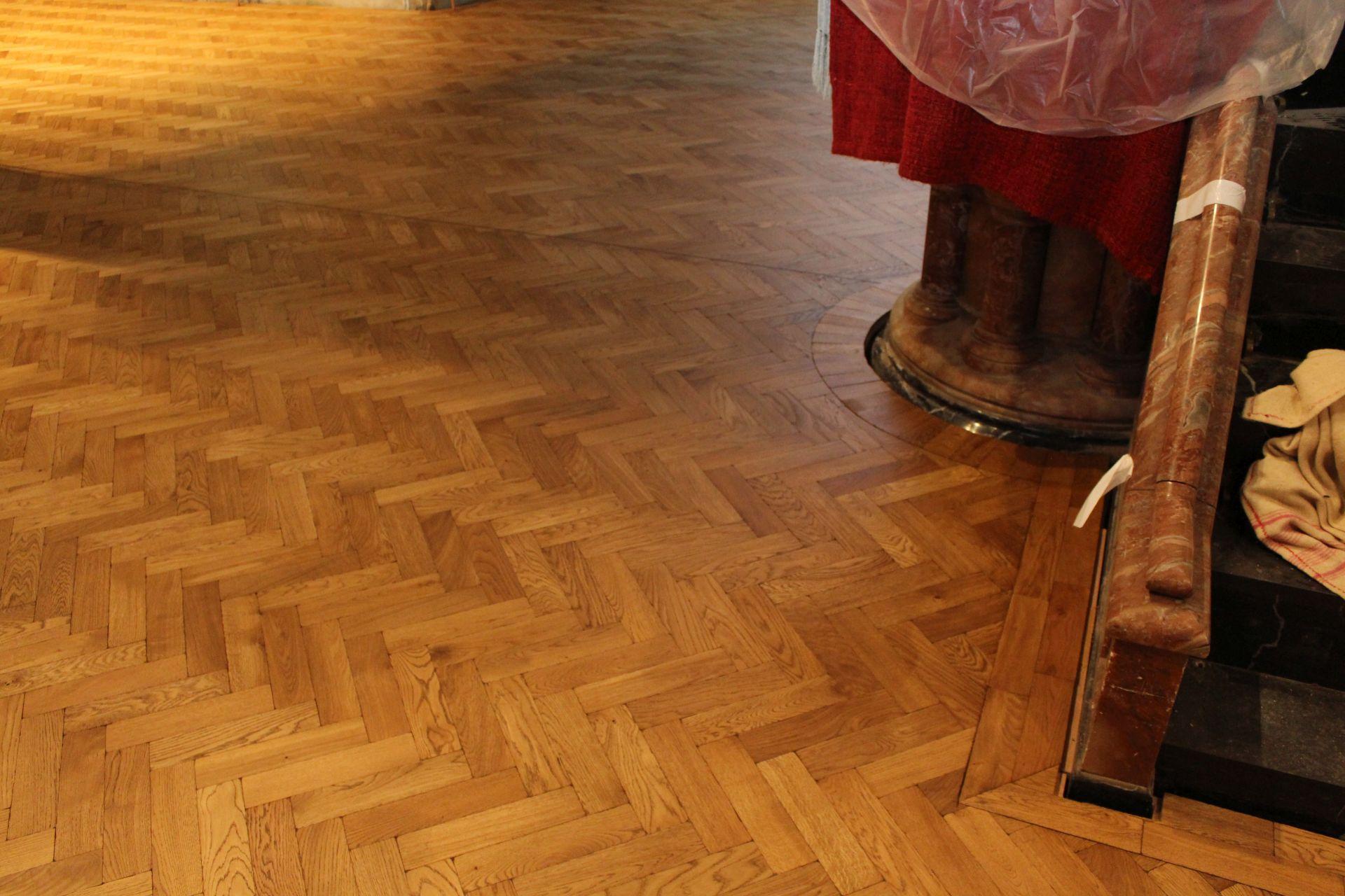 Christ Church wooden floor after renovation