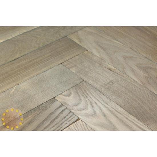 P122 22 Tumbled Parquet Flooring Weathered Oak Size 22x70x280mm Oak Flooring Suppliers Solid Wood Mosiac Parquet Blocks Bristol Uk